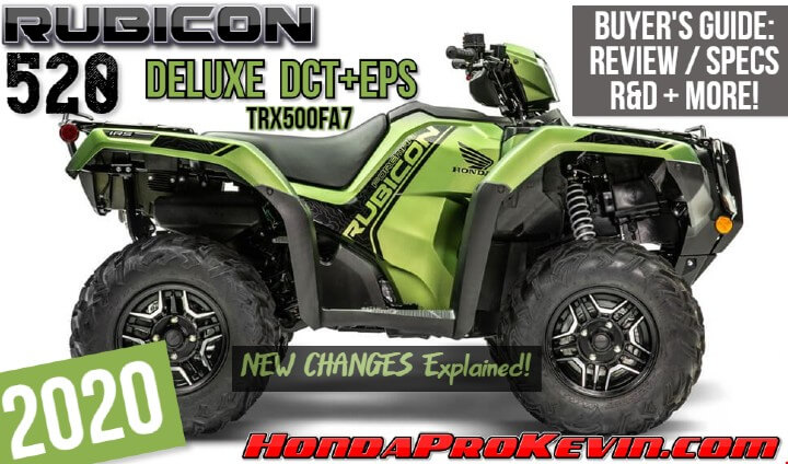 2020 Honda Rubicon 520 DELUXE DCT+EPS Review / Specs + NEW