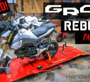 Wrecked Honda Grom Motorcycle Rebuild / Copart Auction | Salvage Title = Totaled