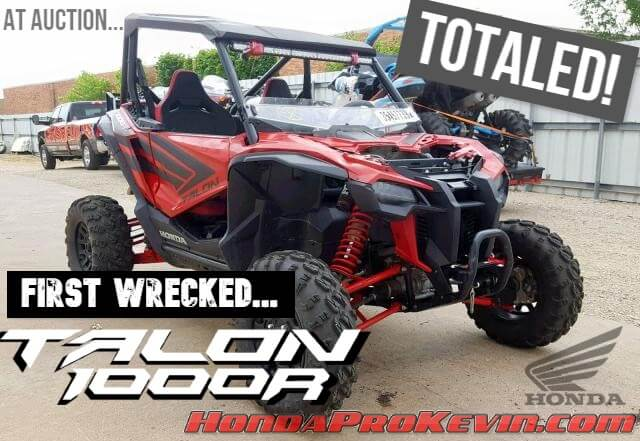NEW Honda TALON 1000 R Wrecked Sport Side by Side / SxS / UTV / ATV @ Auction