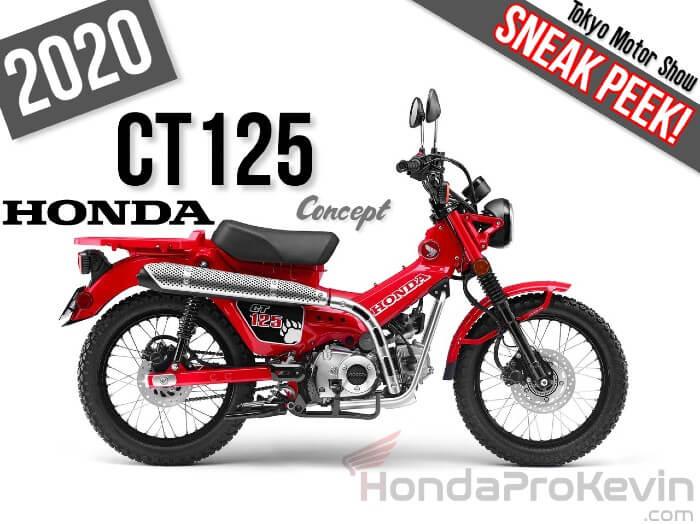 2020 Honda CT125 Concept Motorcycle / Scooter SNEAK PEEK! | 2019 Tokyo Motor Show News