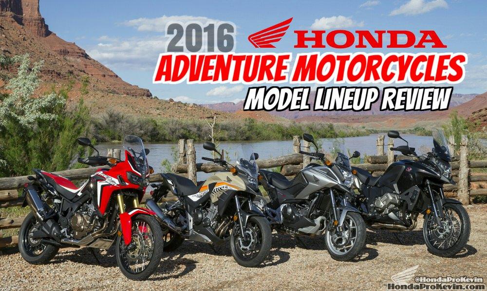 2016 Honda Adventure Motorcycles | Model Lineup Comparison Review ...