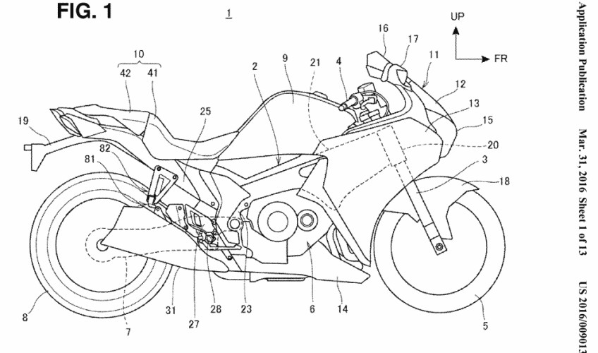 2017 - 2018 New Honda Motorcycle Patents Filed - Motorcycle News & Announcements