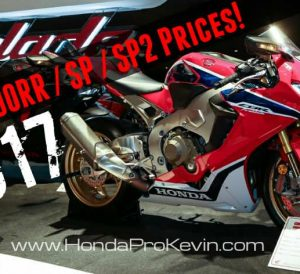 2017 Honda CBR1000RR / SP / SP2 Prices | MSRP Released - CBR Sport Bike / Motorcycle News