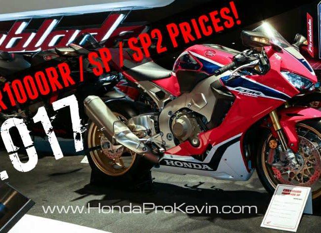2017 Honda CBR1000RR / SP / SP2 Prices   MSRP Released - CBR Sport Bike / Motorcycle News