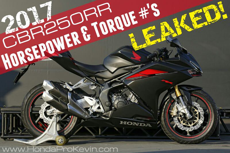 2017 Honda CBR250RR HP & TQ Performance Specs Leaked - CBR 250 RR Sport Bike / Motorcycle Review