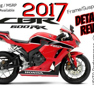 2017 Honda CBR600RR Review of Specs / Changes - CBR Sport Bike / SuperSport Motorcycle HP & TQ Performance, Price / MSRP, Colors + More!