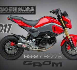 2017 Honda Grom Exhaust | Yoshimura Review / Performance Parts | Yoshi RS-2 & R-77S Muffler | MSX 125 / MSX125SF Mini Naked Sport Bike / StreetFighter Motorcycle