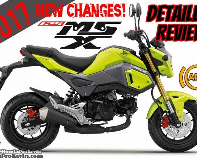 2017 Honda MSX125 ABS Review of Specs + NEW Changes (MSX125SF)   Mini Sport Bike / StreetFighter Motorcycle MSX 125