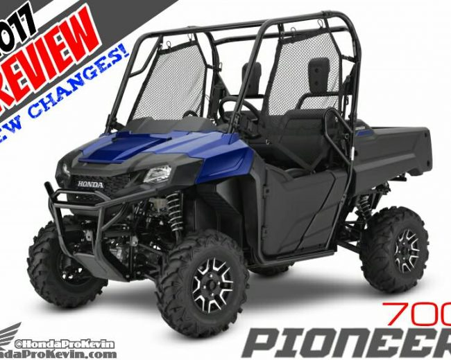 2017 Honda Pioneer 700 / Deluxe DPS Review & Specs + Changes Overview | Side by Side ATV / UTV / SXS / 4x4 Utility Vehicle Models