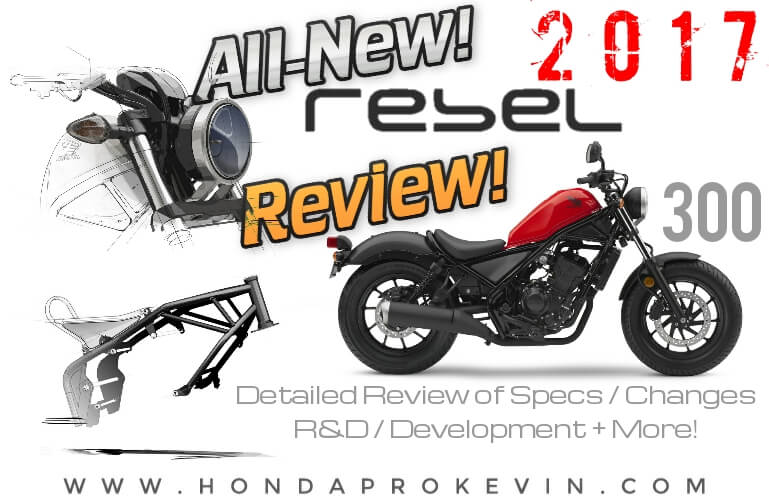 2017 Honda Rebel 300 Review / Specs + NEW Changes! Price, Colors, Seat Height, MPG, Weight | New Cruiser / Bobber style Motorcycle!