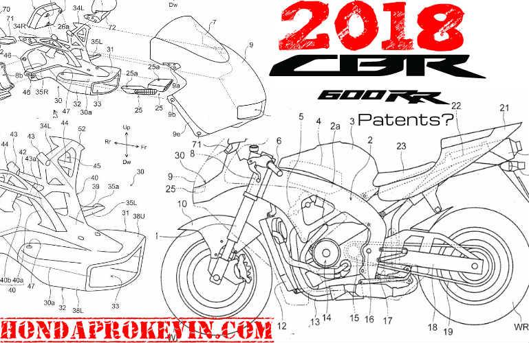 New 2018 Honda CBR600RR Changes on the Way? CBR Patent ...