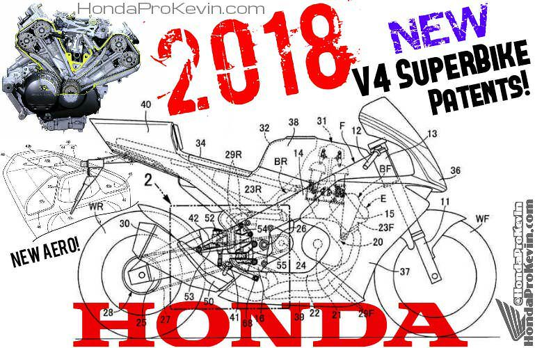 2018 Honda V4 Motorcycle / CBR Sport Bike News - RVF 1000 SuperBike Patents