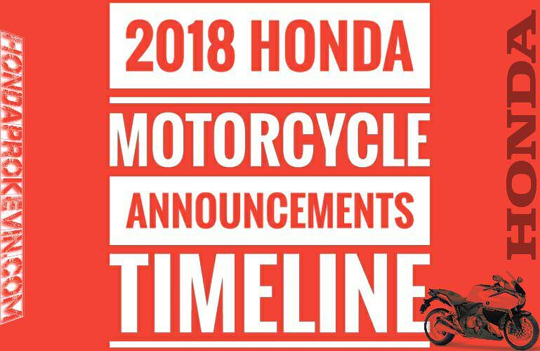 2018 Honda Motorcycles / News | New Model Lineup Announcements & Release Dates