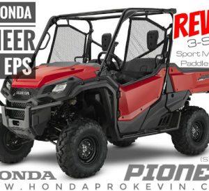 2018 Honda Pioneer 1000 EPS Review / Specs - Side by Side UTV / ATV / SxS Models - Price, Width, Weight, Horsepower & Torque + More! (SXS10M3P / SXS10M3PJ)
