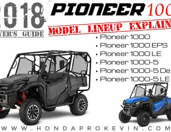 2018 Honda Pioneer 1000 / 1000-5 Model Comparison Review + Differences Explained | Buyer's Guide for 1000cc Side by Side / UTV / SxS Utility Vehicle Models