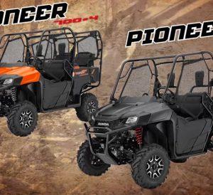 2018 honda talon sxs. interesting sxs 2018 honda pioneer 1000 700 500 side by  utv model lineup  announcement  2019 news on honda talon sxs