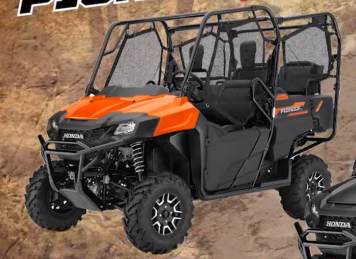 2018 honda pioneer 700 4 deluxe review of specs changes accessories more. Black Bedroom Furniture Sets. Home Design Ideas
