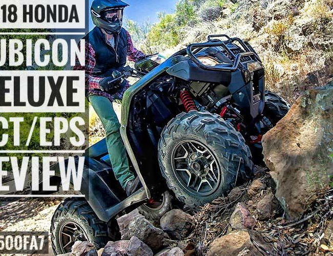 2018 Honda Foreman Rubicon DELUXE DCT / EPS ATV Review & Specs (TRX500FA7) Price, Horsepower & Torque Performance Info, Towing, Wheels & Tires, Auto Transmission - 4x4 Four Wheeler