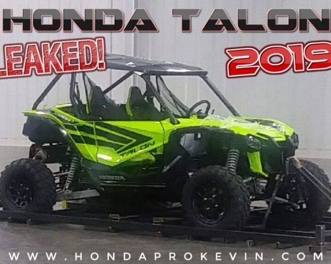 New 2019 Honda TALON 1000 Sport Side by Side / UTV / SxS Info Leaked + Pictures!
