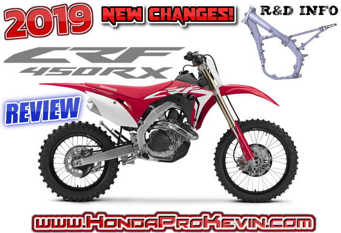 2019 Honda CRF450RX Review of Specs / R&D + NEW Changes