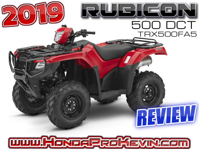 2019 Honda Rubicon 500 DCT ATV Review / Specs + R&D | TRX500FA5