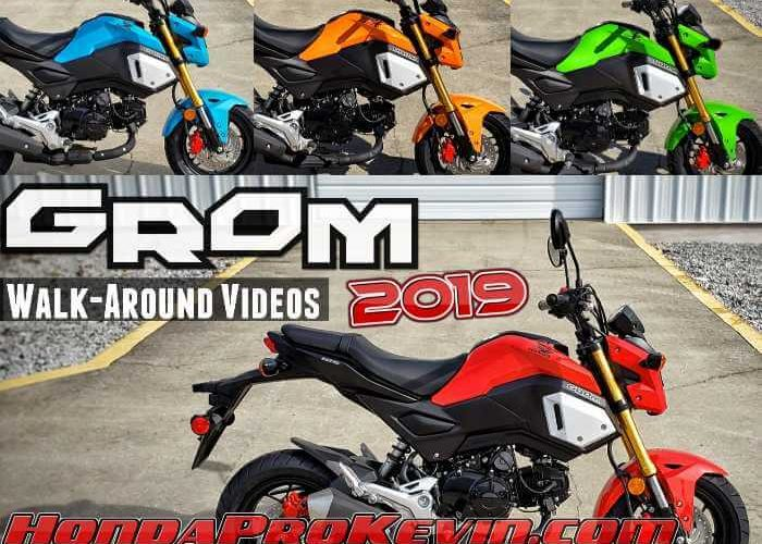 2019 Honda Grom 125 Walk-Around Videos + Review / Specs | 125cc Motorcycle / Mini Bike