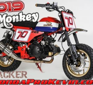 Custom 2019 Honda Monkey 125 Motorcycle / Mini Bike Build | Tracker Flat Track Style Motorcycle | 2019 Honda Monkey 125 Custom Parts & Accessories | Vintage / Retro Honda Mini Trail 50 (Z50)