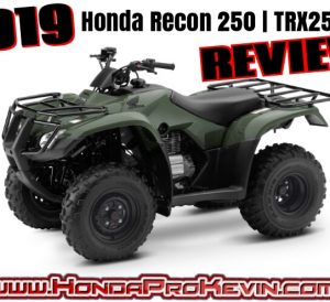 2019 Honda Recon 250 ATV Review / Specs | Buyer's Guide: Price, Changes, Colors, HP & TQ Performance Info, Towing Capacity, Dimensions + More! | TRX250 / TRX250TM - FourTrax 250cc Four-Wheeler