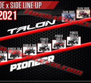 2020 Honda TALON 1000 & Pioneer 500, 700 Side by Side / SxS / UTV SNEAK PEEK Pictures & Info Released! | 1000, 700 & 500 Models