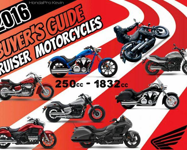 2016 Honda Motorcycles / Cruiser Models - Buyer's Guide