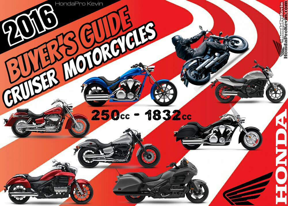 2016 honda cruisers / motorcycles | model lineup comparison review