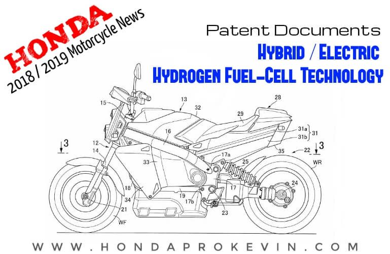 New 2019 Honda Motorcycles / Hybrid Electric with Hydrogen Fuel Cell Technology Patent Documents