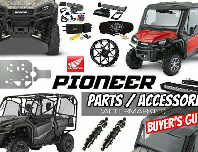 Honda Pioneer 1000 Accessories Review / Aftermarket Parts: Winch, Roof, Windshield, Lift Kit, Snorkels, Suspension, Stereo, Wheels & Tires | Side by Side ATV / UTV / SxS / Utility Vehicle 4x4 1000cc / 1000-5
