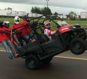 Must See! Honda Pioneer 700 - 4 Wheelie Video | Side by Side ATV / UTV / SxS / 4x4 Utility Vehicle