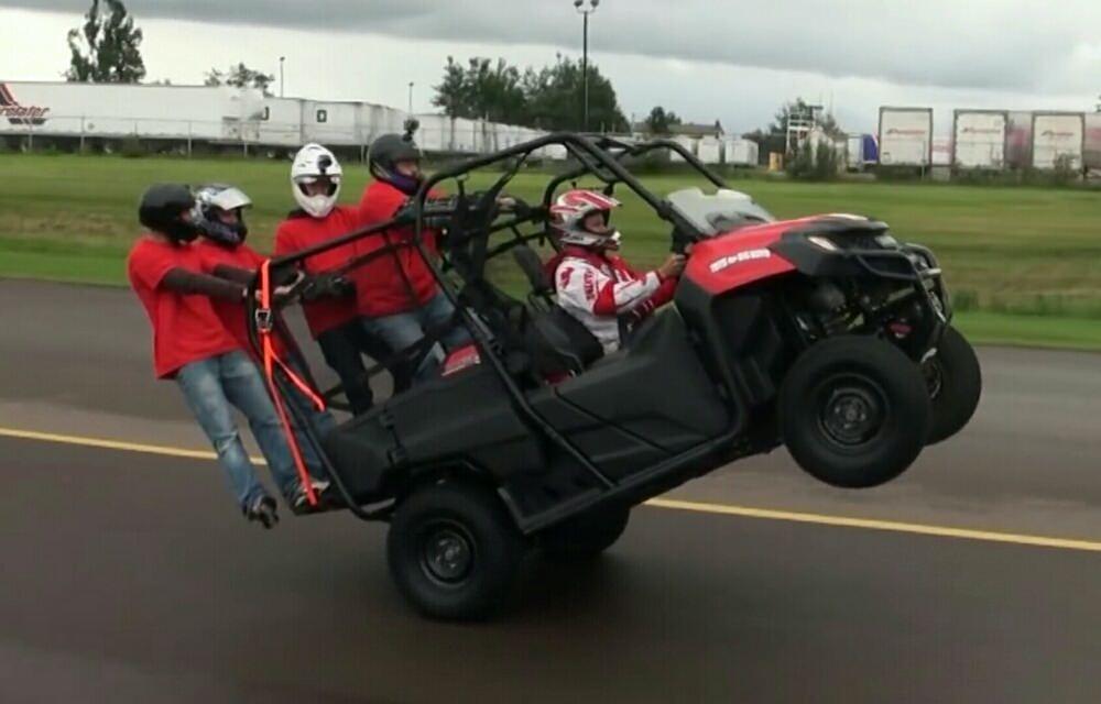 honda pioneer 700 4 utv wheelie video guinness world record holder honda pro kevin. Black Bedroom Furniture Sets. Home Design Ideas