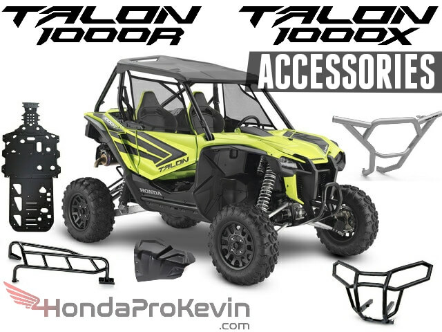 2019 Honda TALON 1000 R / X Accessories Review: Roof, Top, Windshield, Doors, Bluetooth Stereo & Speakers, Skid Plates, Front Bumper, Rear Bumper, Storage + More! | Honda TALON 1000R & 1000X Sport SxS / Side by Side / UTV