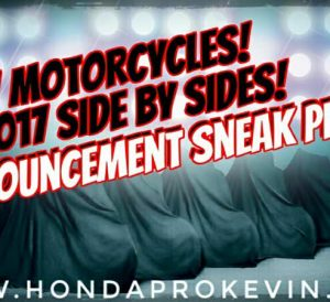 New 2017 Honda UTV & Motorcycle Models Announced / Released | EICMA 2016
