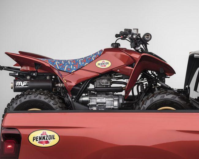 Custom 2017 Honda TRX250X Sport ATV with Fox Suspension, Wheels, Paint & RidgeLine Truck