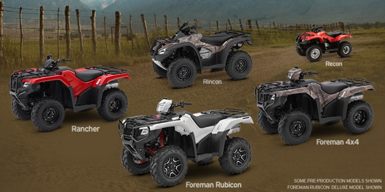 2017 Honda Atv Models Lineup Review Specs