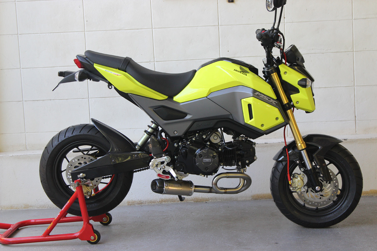 hondapro kevin new 2017 honda grom msx 125 exhaust systems. Black Bedroom Furniture Sets. Home Design Ideas