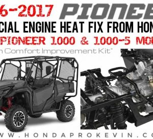 Official Honda Pioneer 1000 Heat Problem Fix - Cabin Comfort Improvement Kit