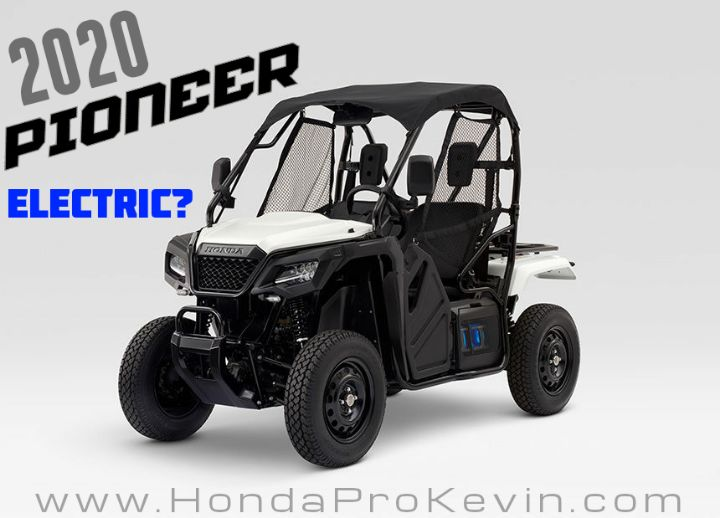 2020 Honda Side By Side Models Are Electric Utv Atv