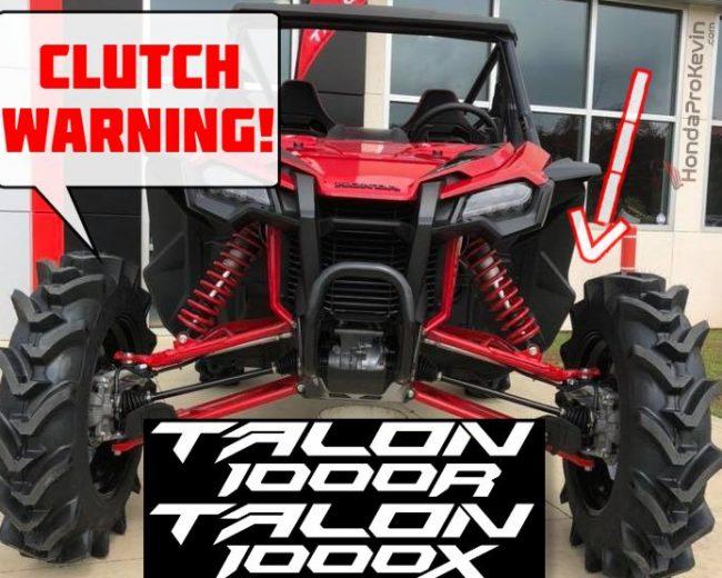 Honda Talon 1000 DCT Clutch Overheat / Slip Warning Info + Pioneer 1000 VS TALON 1000R / 1000X Engine & Transmission Differences
