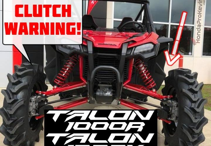 Honda Talon 1000 DCT Clutch Overheat / Slip Warning Info + Pioneer 1000 VS TALON 1000R / 1000X Engine & Transmission Differences