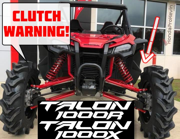 honda talon  dct clutch warning engine transmission