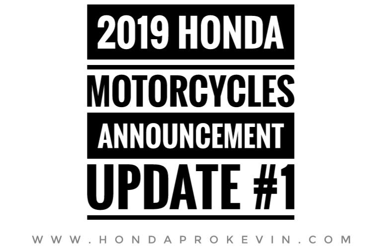 New 2019 Honda Motorcycles Dirt Bikes Scooters Announced