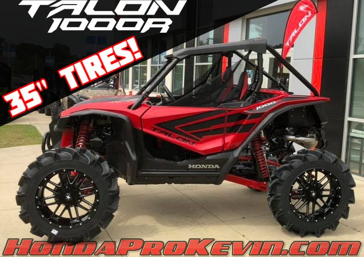 "Custom 2019 Honda Talon 1000 R with 35"" Tires + Aftermarket Wheels! 