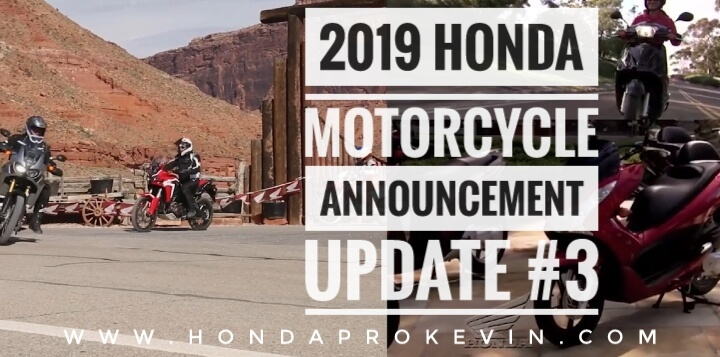 New 2019 Honda Motorcycles / Model Lineup Announcement | Release Update #3