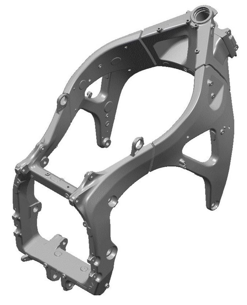 2017 CBR600RR Frame / Chassis - CBR 600 Sport Bike Motorcycle - HP & TQ Performance Rating