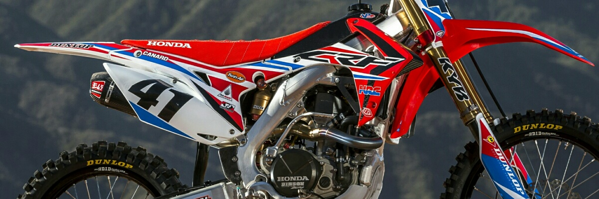 2016 Honda CRF450R Yoshimura Exhaust - Hinson Engine Case - HRC Race Dirt Bike Team HRC